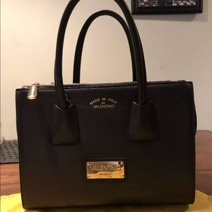 NWT Valentino Milano Black Patio Bag